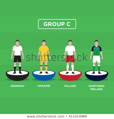 Table soccer player figurines with football Stock photo © stevanovicigor