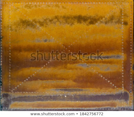 Pomarańczowy powierzchnia metaliczny projektu czarny fali Zdjęcia stock © Paha_L