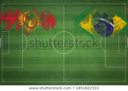 Brazil and Kyrgyzstan Flags Stock photo © Istanbul2009