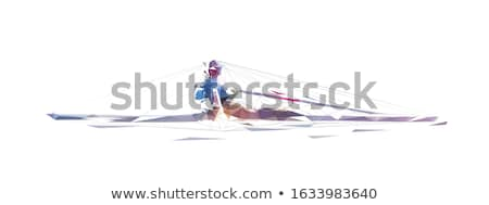 The boy with oars and a net outdoor Stock photo © Paha_L