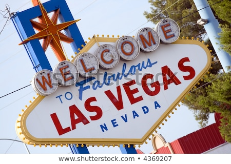 Welcome to Las Vegas Sign Boulevard Strip Roadside Attraction Stock photo © cboswell