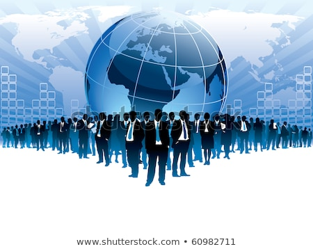 business crowd blue globe Stock photo © Paha_L