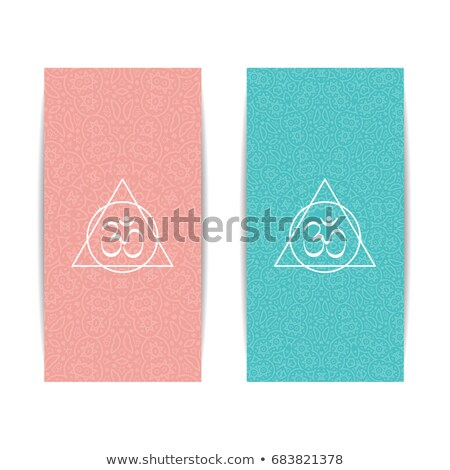 Creative gift certificate with pink and turquoise background Stock photo © liliwhite