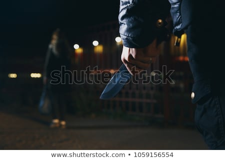 男 ナイフ 手 準備 男性 戻る ストックフォト © sharpner