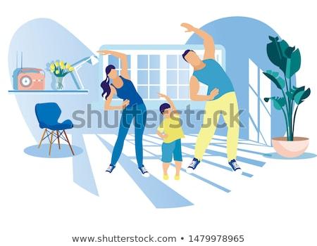 иллюстрация человека спорт спортзал энергии Сток-фото © Morphart