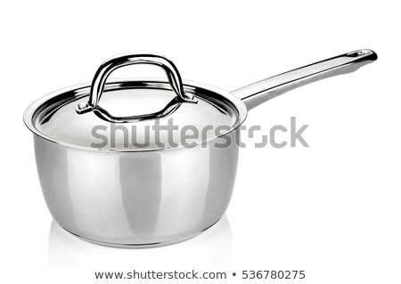Stainless steel saucepan  Stock photo © Digifoodstock