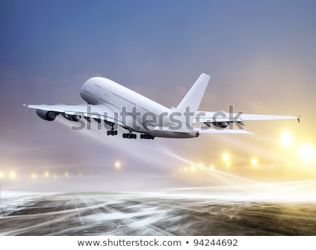 Photo stock: Airport At Blowing Snow