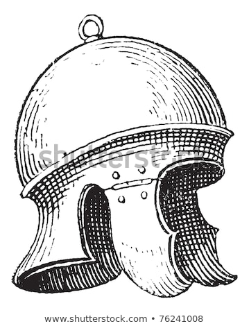 Roman legionnaire's helmet or galea vintage engraving Stock photo © Morphart