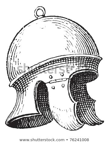 Roman legionnaire's helmet or galea vintage engraving Stock photo © Morphart