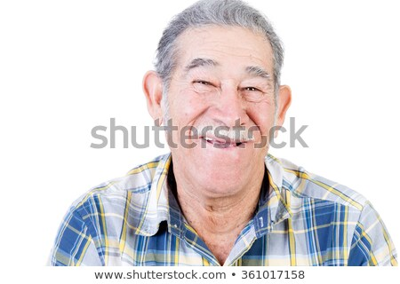 Happy Mexican man with mustache and flannel shirt Stock photo © ozgur