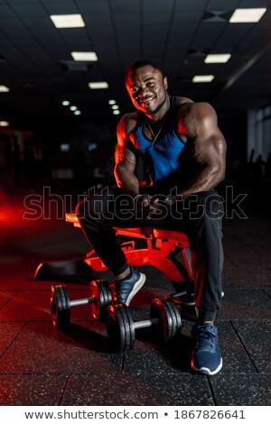 мускулистое тело строителя веса энергии фары Сток-фото © ra2studio