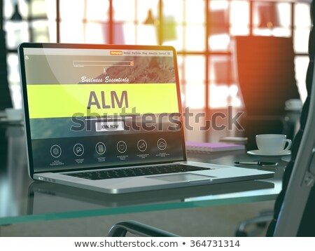 ALM Concept on Laptop Screen. Stock photo © tashatuvango