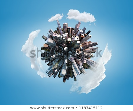 Tiny planet with skyscrapers Stock photo © 5xinc