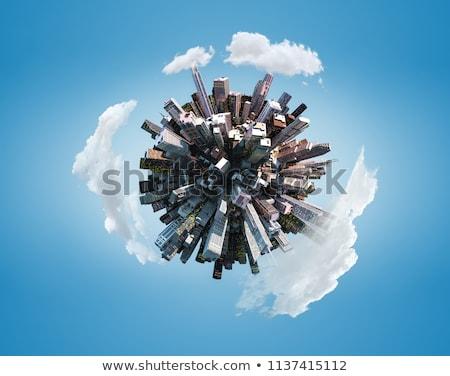 planeta · arranha-céus · pequeno · núcleo · mundo - foto stock © 5xinc