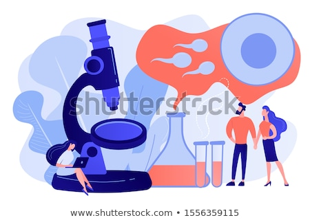 Infertility. Medical Concept on Blue Background. Stock photo © tashatuvango
