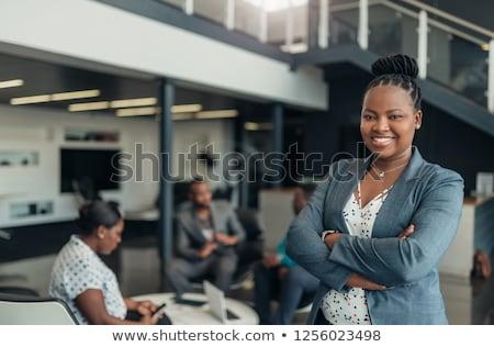 small business on laptop in modern workplace background stock photo © tashatuvango