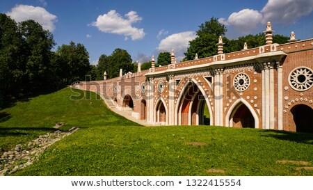Готский моста Запад сторона водохранилище Центральный парк Сток-фото © rmbarricarte
