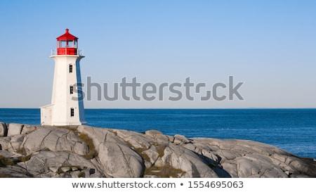 Deniz feneri parlak mavi gökyüzü bo gökyüzü Stok fotoğraf © stevanovicigor