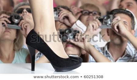 Moda mostrar vida jóvenes femenino Foto stock © shawlinmohd
