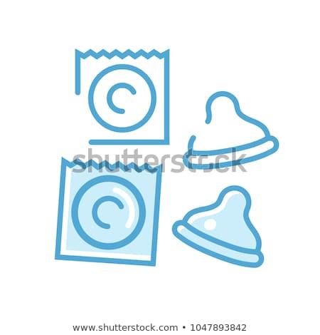 Condoom icon bescherming teken ontwerp gezondheid Stockfoto © kiddaikiddee