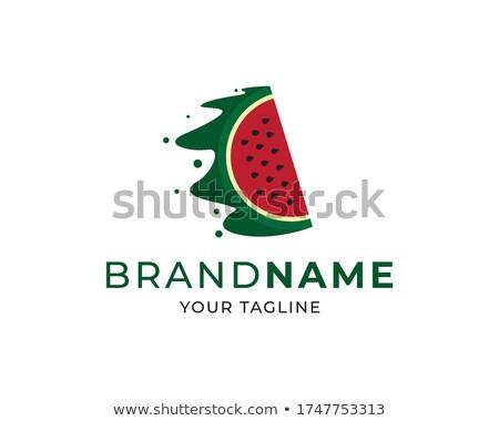 sandía · vector · diseño · de · logotipo · frutas · plantilla - foto stock © Fractal86