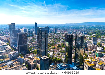 panoramisch · Frankfurt · hoofd- · horizon - stockfoto © meinzahn