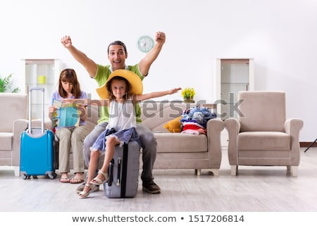 jonge · familie · vakantie · reizen · witte · man - stockfoto © choreograph