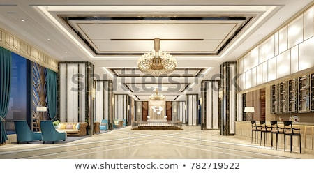 modern · hotel · recepció · asztal · közelkép · kép - stock fotó © elnur