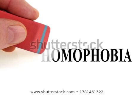 deleting the word homophobia Stock photo © nito