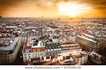 Aerial View Of Vienna City Skyline stock photo © meinzahn