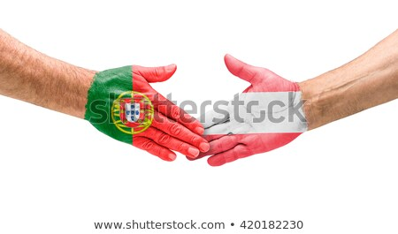 Football équipes handshake Portugal Autriche main Photo stock © Zerbor