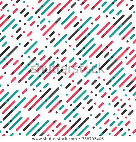 ベクトル 対角線 赤 緑 黒白 色 ストックフォト © Fosin