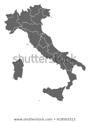 Harita İtalya vektör yalıtılmış gri Stok fotoğraf © rbiedermann