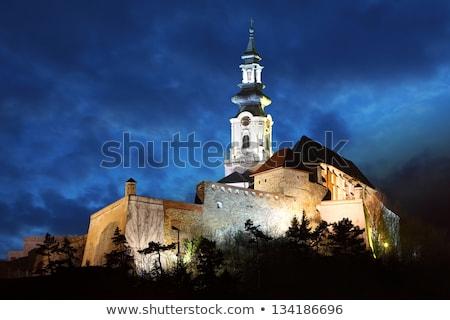 Nitra city at night Stock photo © hraska