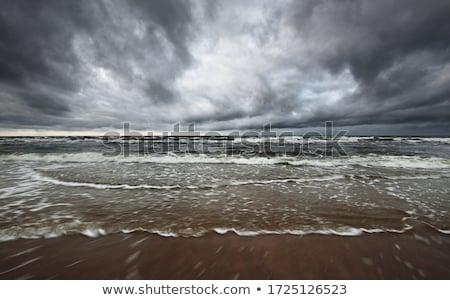 Fırtınalı plaj tropikal fırtına su deniz Stok fotoğraf © szefei
