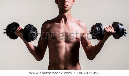 Ritratto magro bodybuilder divertente sport corpo Foto d'archivio © majdansky