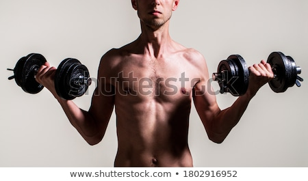 portrait of a skinny bodybuilder stock photo © majdansky