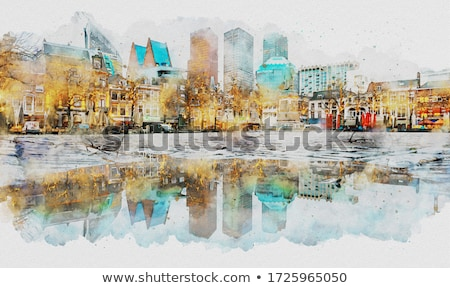 tourist enjoying art of paintings and architecture Stock photo © Giulio_Fornasar
