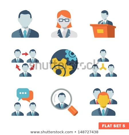 meeting icon flat design stock photo © wad