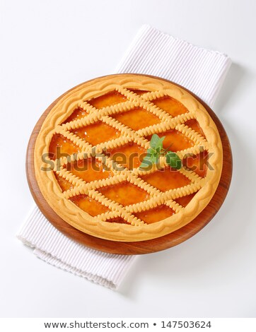 lattice topped apricot crostata stock photo © digifoodstock
