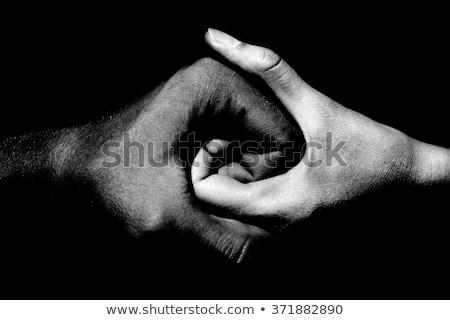 Black and white yin-yan symbol Stock photo © tuulijumala