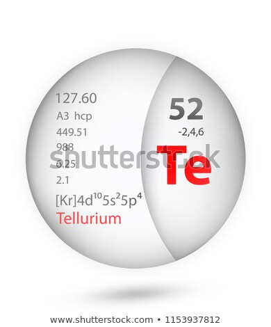 A button with the chemical element Tellurium Stock photo © bluering