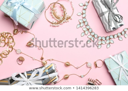 Diamond frame with space for text. Colored gemstones background  Stock photo © MaryValery