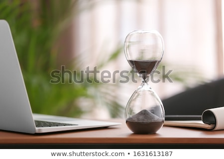 Kum saati tablo ahşap masa iş doku Stok fotoğraf © fuzzbones0