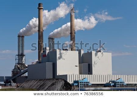 Fabrika binalar iş Bina arka plan sanat Stok fotoğraf © bluering