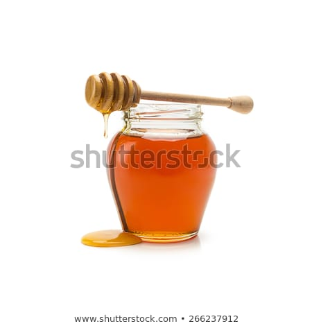 меда банка изолированный белый продовольствие жидкость Сток-фото © goir