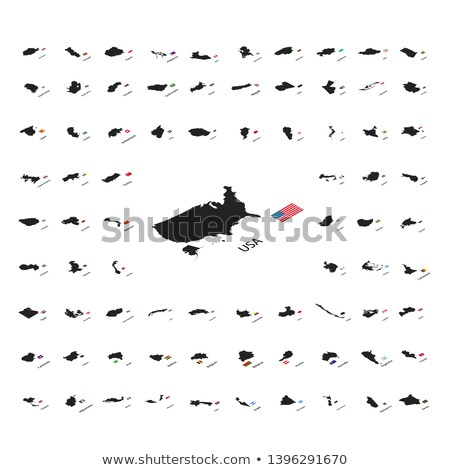セット シルエット 世界 国 フラグ 孤立した ストックフォト © Evgeny89