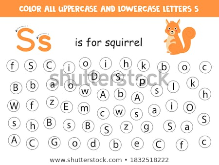 Flashcard letter S is for students Stock photo © bluering