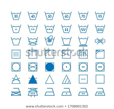 Laundry symbols line design Stock photo © kali