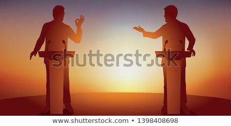 kép · idős · vezető · készít · beszéd · megbeszélés - stock fotó © pressmaster